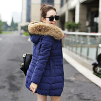 2014 New Winter Jacket Women Fashion Winter Slim Long Down Jacket Thicken Warm Cotton- padded Jacket Free Shipping YYJ796