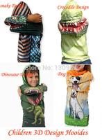 Kids 3D Dinosaur Hoodies Boys Crocodile T shirt Girls Dog Design Sweatshirt Children Long SLeeve 3D Tops Tees Outwear Retail