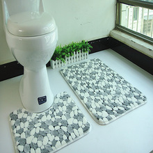 2pcs/set PVC mesh coral fleece floor mats bathroom ground mat set 45*50cm+50*80cm water absorption anti-slip anti-bacteria rugs(China (Mainland))