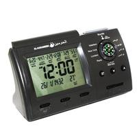 1150 Cities Digital Table Azan Clock Muslim Pray Clock Reminder with Compass Automatic Fajr Alarm /HA-3005