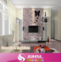 Creative DIY fashion simple butterfly wall clock, bedroom, living room pointer clock hanging, clocks home decor, single clock