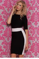 Sexy Black White Backless Mini Dress  LC21813