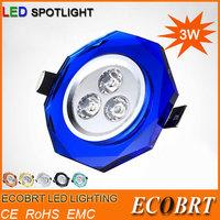 2014 Energy Saving 3W LED Spotlight Recessed lights in living room bedroom for ceiling decoration light fixture 110v / 220V