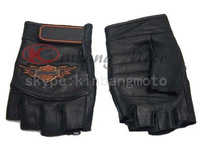Hot Sale half Leather Hare Fire Motorcycle Gloves/ Off Road Racing Gloves Size M  L  XL