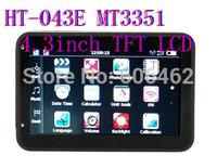 HT-043E  4.3''  SPortable GPS Navigation  MTK3351  500MHZ CPU  128MB flash 256MB memory FMT Car  GPS Navigation System