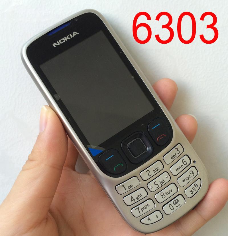 Original Nokia 6303 Mobile Phone 6303c Classic Cellphone Russian Keyboard Arabic Keyboard(China (Mainland))