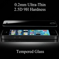 2.5D 0.2mm Ultrathin 9H Tempered Glass Screen Protector for iPhone 6 6 plus 5 5s 5c 4s Samsung s5 s4 s3 note 4 3 100 no package