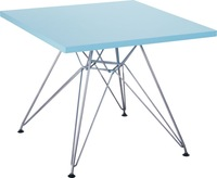 1 piece 20x20inch MDF wood table top chromed steel leg children Eames table