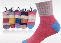 F10945-5 5 Pairs Winter Warm Rabbit Wool Socks High Cuffs Socks For Women Lady