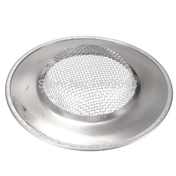 Free Shipping Stainless Steel Kitchen Sink Basin Bathtub Hair Drain Mesh Waste Plug Hole Filter Flume Sink Strainer(China (Mainland))