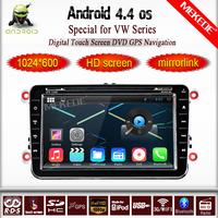Android 4.4 Car DVD For Volkswagen VW Skoda POLO PASSAT CC JETTA TIGUAN TOURAN Bora Touareg GOLF 5 6 4 Fabia Superb GPS+Map gift