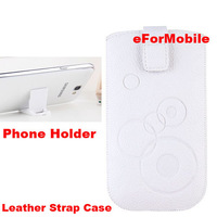 Strap Case Leather Case Mobile Phone Pouch+2 pcs Mobile phone Stand For HTC Desire Eye M910X