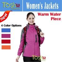 Snowboard Jacket Softshell Fleece 2-Layer Winter Outdoor Sport Outerwear Waterproof Warm Women Skiing Coat Jackets Free Shipping