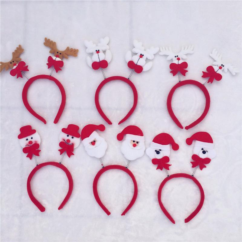 30cs/Lot Christmas Headband Hair Band Accessories Xmas Party Decoration Ornaments Many Styles Red Supplies(China (Mainland))