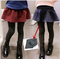 Wholesale Girls Vintage pencil pants , eulotte suit,Boot cut,Thick Leggings,two colors Size 5/7/9/11/13