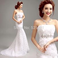 mermaid wedding dress 2015 flower sexy wedding dresses vestido de noiva praia vestido de noiva manga longa fashionable gown