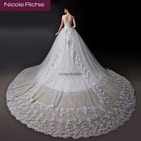 Cii Bride wedding dress new Winter fashion retro vintage shoulder strap lace long-tailing female plus size bridal gown customize