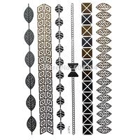 1pc/lot/TJ017,Metallic Temporary Tatoo/Bracelet,Leaf,bowknot,Tie/waterproof Gold Flash fake tattoo Sex body art/stocking stuffer