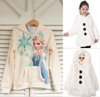 2015 New winter girls jacket, Elsa jacket. snow treasure cartoon coat clothes trade OLAF cotton-padded clothes, children's coat