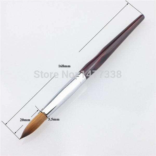 Factory Direct,Size 08,Three Angle Wooden Handle,100% Kolinsky Acrylic Nail Brush,Free Shipping()