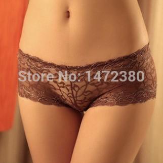 Hot Sales sexy lace jacquard transparent hollow Seamless underwear ladies panties boyshorts fashion women's underwear 8pcs/lot(China (Mainland))