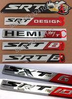 100ps Metal 3D Resin HEMI SRT Badges Emblem MIX