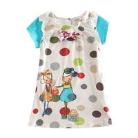 Babi vestidos Girl Summer Clothes Polka Dots With Bow Dress Girl Clothes Child Babi Girl Dress For Girl H2823