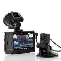 3.5 Inch Display HD 720p Dual Camera (forward and rear view) Car DVR video recorder S3000L