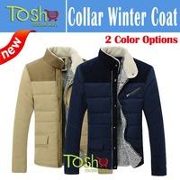 Hot-selling 2014 Plus Size 3XL Fleece Corduroy Wadded Jacket Men Cotton Filling Thickening Coat Men Winter Jacket Free Shipping
