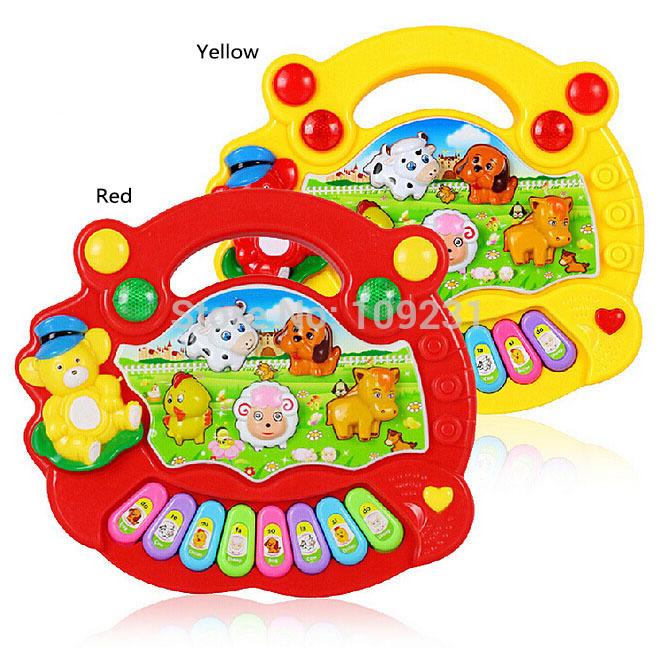 Baby Music Developmental Animal Farm Piano Sound Educational Toy M0074 P(China (Mainland))