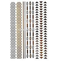 1pc/lot/GT026,Temporary Tattoo Glitter Sticker/Shank,Hip,arm/Chain,honeycomb strip,triangle/waterproof Gold flash fake tatoo/CE