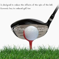 Free shipping 6Pcs Red Plastic Chair Shape Golf Tees