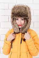 2014 Free shipping hot sale Winter real farms Ushanka Fashion women faux fur bomber hat