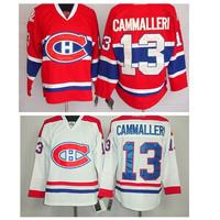 Montreal Canadiens Hockey Jerseys Michael Cammalleri Jersey #13 Cammalleri Jerseys Home Red Stitched Jerseys embroidery logo