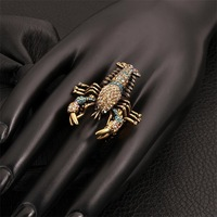 Free shipping! Newest special big cool rings, wholesales popular hot animal engagement rings USR517