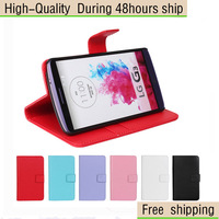 Magnetic Wallet Flip Leather Case Cover For LG Optimus G3 D855 D850 Free Shipping