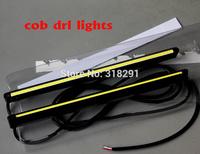 free shipping 2014 new ultra-thin slim high quality 200mm  COB  daytime running lights car lamp drl