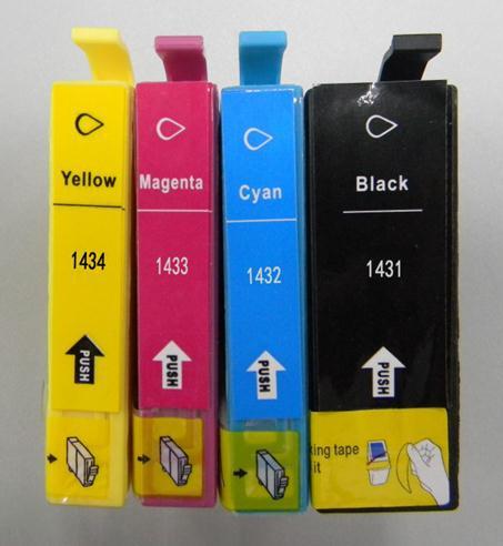 Картридж с чернилами 235mall T1431 T1432 T1433 T1434 Epson Epson 620F/560W/570W/960FWD/900WD 7018 for Epson T1431 T1432 T1433 T1434 free hk post eps original ink cartridge 2pces 1set t1421 black eps me 560w 620f 570w economical practical