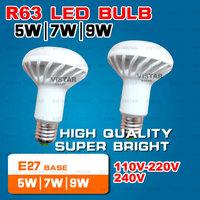 R63 LED LAMP 5W 7W 9W Light bulb 110V-220V-240V 2835 SMD High quality Epistar Warm white Cold white Free shipping