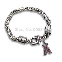 Vintage Chain Los Angeles Angels Team Logo Charms Bracelets