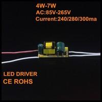 5pcs/lot 4-7W led inside driver 240/280/300mA LED Driver Lighting Transformers For E27|GU10 Spotlight light