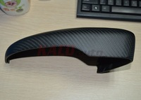 Real Carbon Fiber Side Mirror Cover For 2009-2015 Volkswagen Scirocco Full Replacement Matte Finish