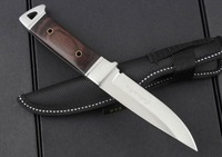 Free shipping 8'' New Wood Handle Full Tang Bowie Hunting Knife K90