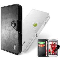 Genuine Brand IMAK Magnet Flip Luxury Leather Case Card Holder Wallet Pouch Cover For LG E980 E988 Optimus G Pro + touch pen
