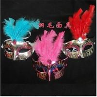 Hot-selling luminous xuanliang feather mask villus powder princess mask masquerade masks