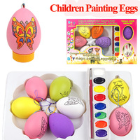 Free shipping DIY poor handwriting drawing eggs toys sets hand painting colorful eggs for Christmas Day gift sets learning items