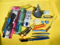 Electric Soldering Iron Repair Tools Full Set 19pcs/set Iron frame / Brush / screwdriver / suction tin