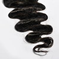 Peruvian Lace Closure 3.5*4 Middle 3 Part Lace Closure Bleached Knot Peruvian Virgin Hair Body Wave Free part Human Hair Closure