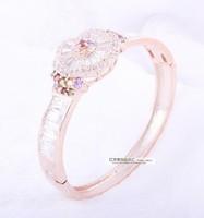 new  Hypo-allergenic anti-fade full diamond luxury  flower-shaped bracelet bracelet