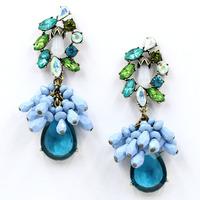 2014 New Arrival statement big beads dangle earrings women fashion Earrings for women earring Factory Price